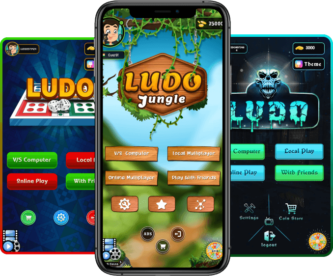 ludo game wecome and dashbord image in Phone